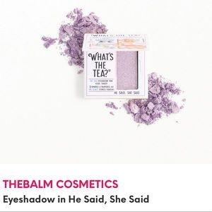⭐️5/$25 The Balm Eyeshadow in He Said, She Said